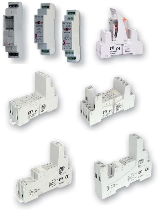 Вспомогательные реле (промежуточные реле) модульные + в исполнении под цоколь (ERM & MER)