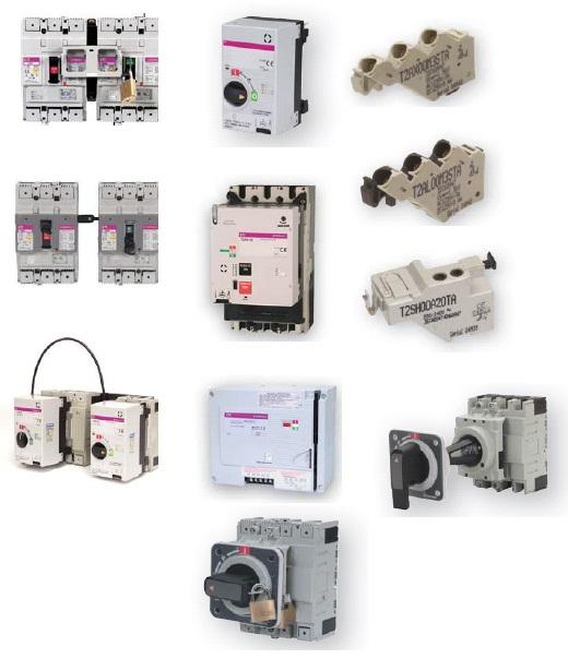Аксессуары к промышленным автоматическим выключателям серии ETIBREAK 2*