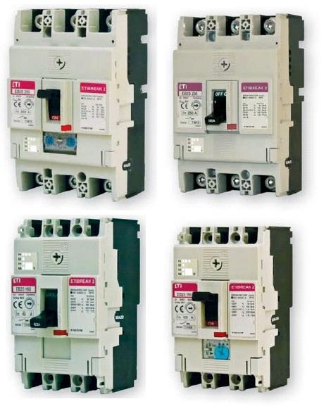 Промышленные автоматические выключатели ETIBREAK 2S от 16A - 250A