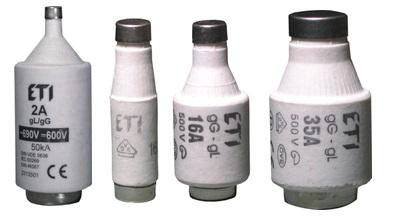 D (Низковольтные цилиндрические предохранители/держатели)