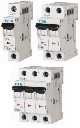 Автоматические выключатели PL 4 до 63 A (4kA) (CQ)