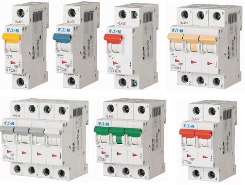 Автоматические выключатели PL 7 до 63 A (10kA) (CC)