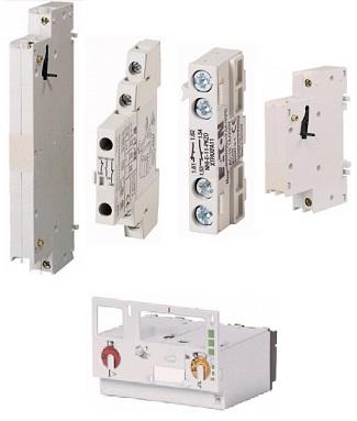 Блоки вспомогательных контактов и расцепителей на PKZ0, PKZ2
