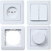 Электроустановочные изделия серии «ЛЕГАТА» цвет белый