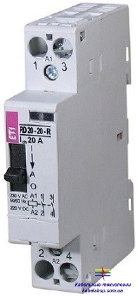 Контактор R 20-02-R 230V AC 20A (AC1) с ручн.управлением