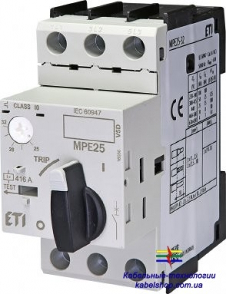 Авт. выключатель защиты двигателя MPE25-10