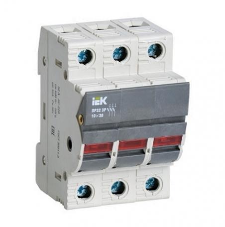 Предохранитель-разъединитель с индикацией ПР32 3P 10х38 32А ИЭК (ПВЦ)