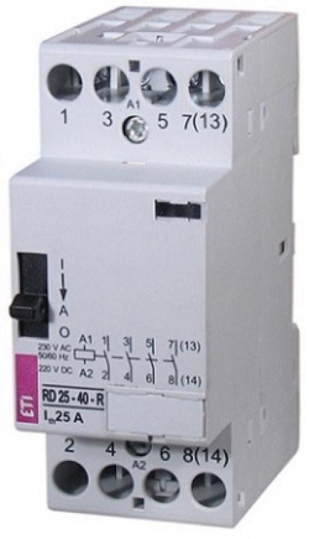 Контактор R 25-04-R 230V AC 25A (AC1) с ручн.управлением