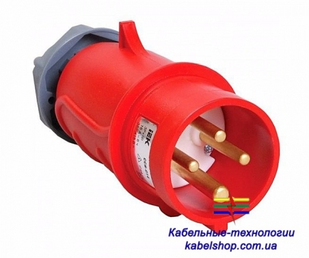 Вилка переносная ССИ-014 16А-6ч/200-250В 3Р+РЕ IP44 MAGNUM ИЭК