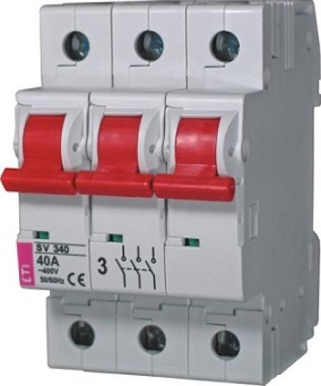 Выключатель нагрузки SV 380  3р 80A
