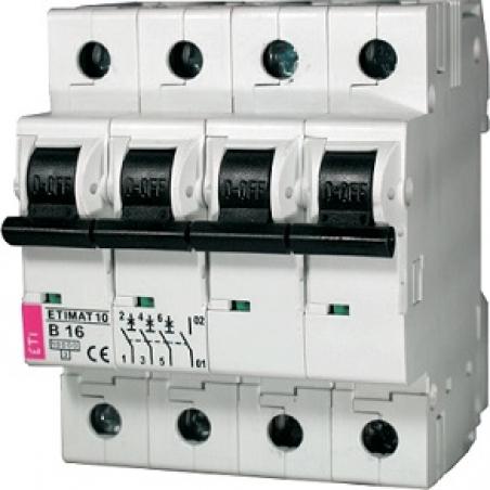 Авт. выключатель ETIMAT 10  3p+N D 25А (10 kA)