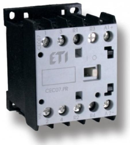 Контактор миниатюрный  CEC 07.PR 24V DC (7A; 3kW; AC3) 4р (2н.о.+2н.з.)