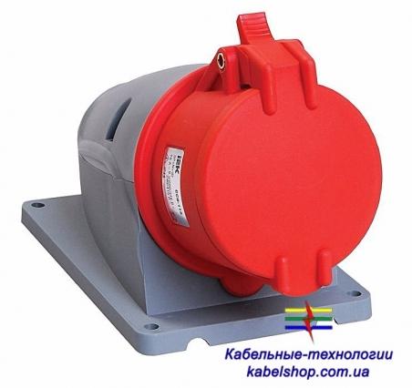 Розетка стационарная ССИ-114 16А-6ч/380-415В 3Р+РЕ IP44 MAGNUM ИЭК