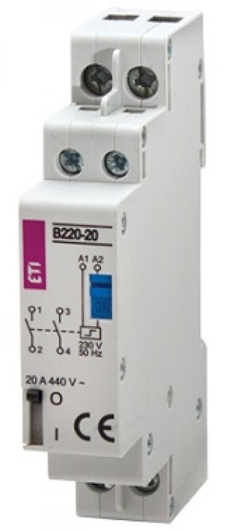 Контактор импульсный RBS 220-20 230V AC 20A (2Н.О.,AC1)
