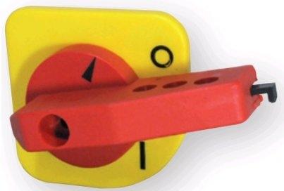 Рукоятка для LA3/LA4 Y-R на дверцу шкафа (желто-красная)