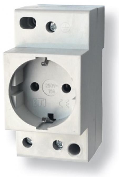 Розетка на DIN-рейку t-2P+Z Schuko (P)