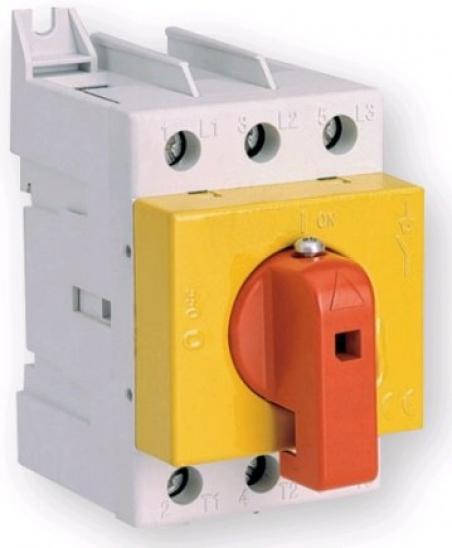 Разъединитель нагрузки (желто-красный) LAS 100 3р