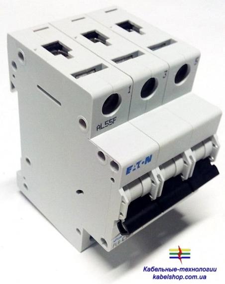 Автоматический выключатель 3-полюс. PL6-C20/3 Moeller-EATON ((CM))(286602-)3/20