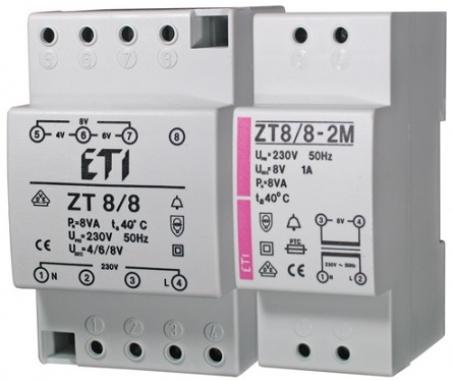 Трасформатор звонковый 2p Zt 8/8-2M