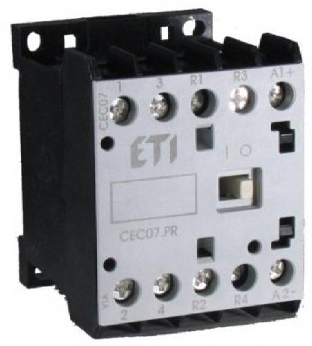 Контактор миниатюрный  CEC 09.PR 24V DC (9A; 4kW; AC3) 4р (2н.о.+2н.з.)