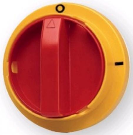 Рукоятка для LAS на дверцу шкафа аварийная (желто-красная)