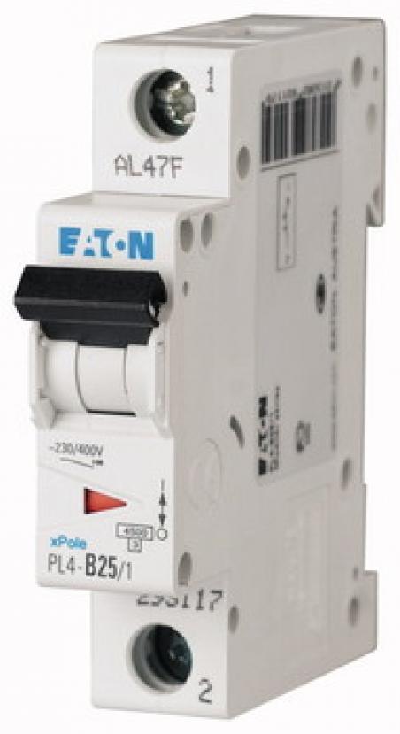 Автоматический выключатель 1-полюс. PL4-C20/1 Moeller-EATON ((CQ))(293125-) 1/20