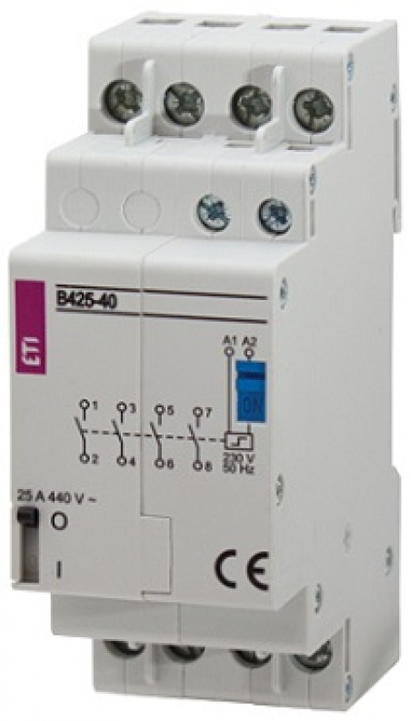 Контактор импульсный RBS 425-2С 24V AC 25A (2перекидн.,AC1)