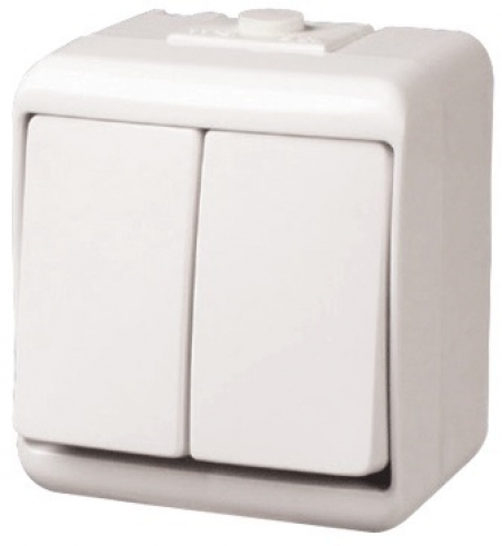 Выключатель 2-клавишный (IP44) VHE-2