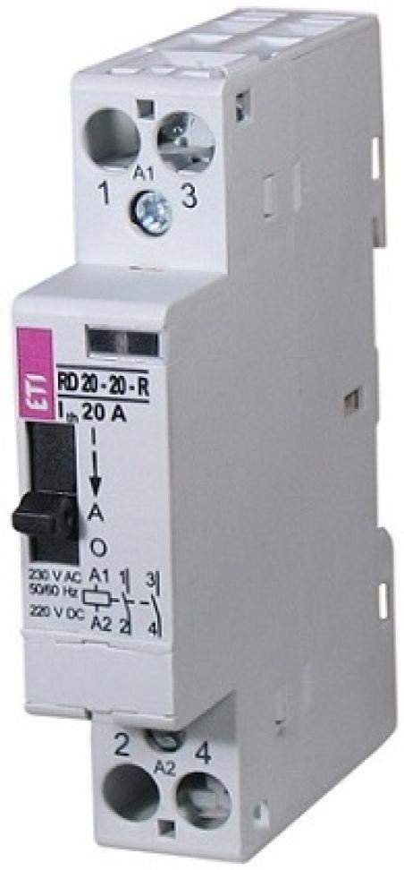 Контактор RD 20-10-R 24V AC/DC 20A (AC1) с ручн.управлением